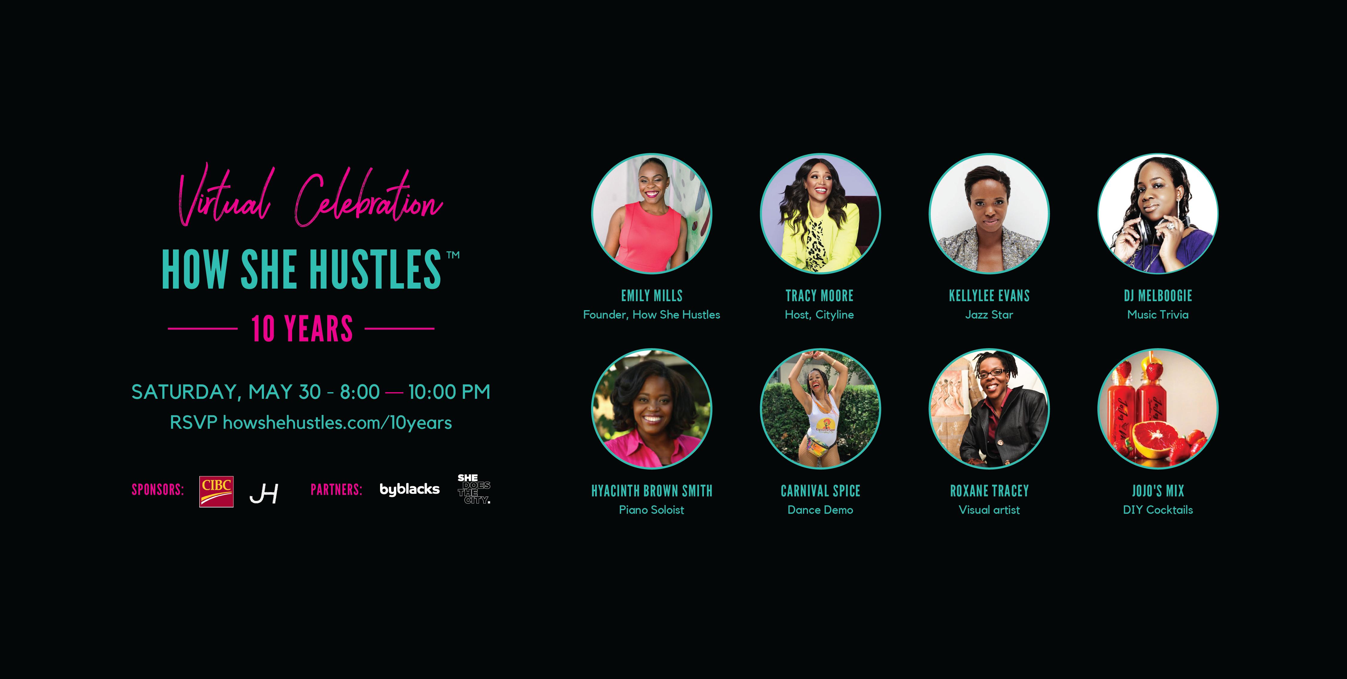 How She Hustles 10th Anniversary Virtual Celebration